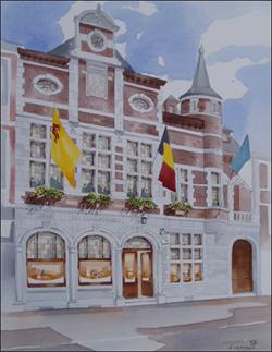 La façade prestigieuse cache un musée, un stand de tir et deux salles polyvalentes